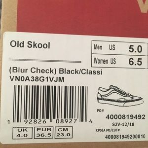 Blur Checked board vans